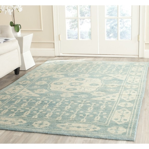 Safavieh Hand-knotted Kenya Blue Wool Rug (8' x 10')