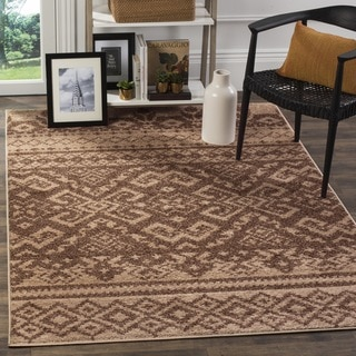Safavieh Adirondack Southwestern Camel/ Chocolate Brown Rug (6' Square)