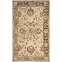 Safavieh Handmade Anatolia Oriental Light Grey/ Dark Brown Hand-spun Wool Rug - 4' x 6'
