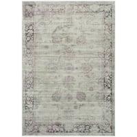 Safavieh Vintage Oriental Grey/ Amethyst Distressed Silky Viscose Rug (8' x 11'2) - 8' x 11'2