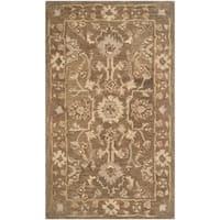 Safavieh Handmade Anatolia Oriental Grey/ Dark Grey Hand-spun Wool Rug - 4' x 6'