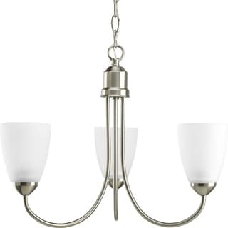 Link to Progress Lighting Gather Collection 3-Light Brushed Nickel Chandelier Lighting Fixture - N/A Similar Items in Bedroom Furniture