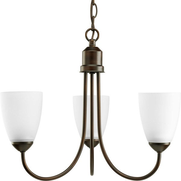 Progress Lighting Gather Collection 3-Light Antique Bronze Chandelier Lighting Fixture