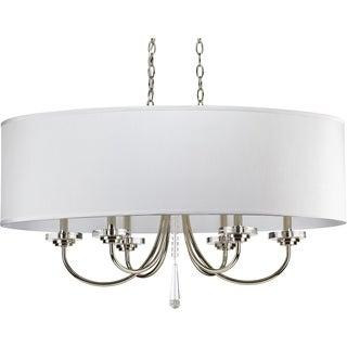Progress Lighting Nisse Collection 6-Light Polished Nickel Chandelier Lighting Fixture