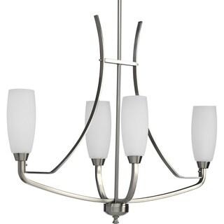 Progress Lighting Wisten Collection 4-Light Brushed Nickel Chandelier Lighting Fixture