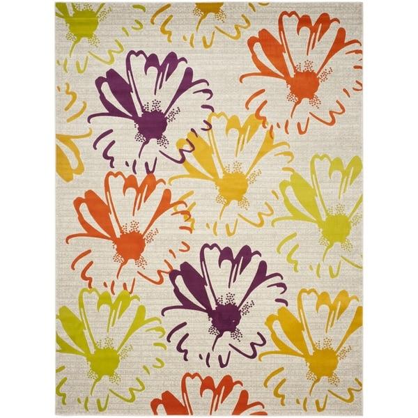 Safavieh Porcello Contemporary Floral Light Grey/ Multi Rug - 8'2 x 11'