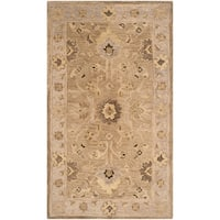 Safavieh Handmade Anatolia Oriental Tan/ Ivory Hand-spun Wool Rug - 4' x 6'