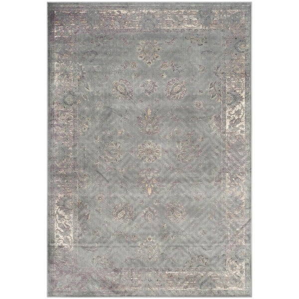 Safavieh Vintage Oriental Grey Distressed Silky Viscose Rug 8 X27
