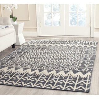 Safavieh Hand-knotted Kenya Charcoal Wool Rug (7' Square)