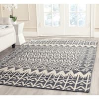 Safavieh Hand-knotted Kenya Charcoal Wool Rug - 7' x 7' Square