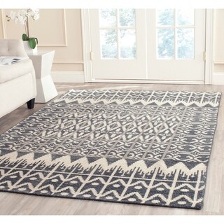 Safavieh Hand-knotted Kenya Charcoal Wool Rug (9' x 12')