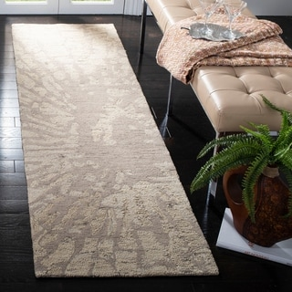 Safavieh Handmade Bella Modern Abstract Winter Taupe Wool Rug (2'6 x 8')
