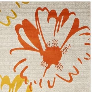Safavieh Porcello Contemporary Floral Light Grey/ Multi Rug (4'1 x 6')