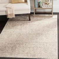 Safavieh Vintage Damask Ivory/ Grey Distressed Rug (8' x 11')