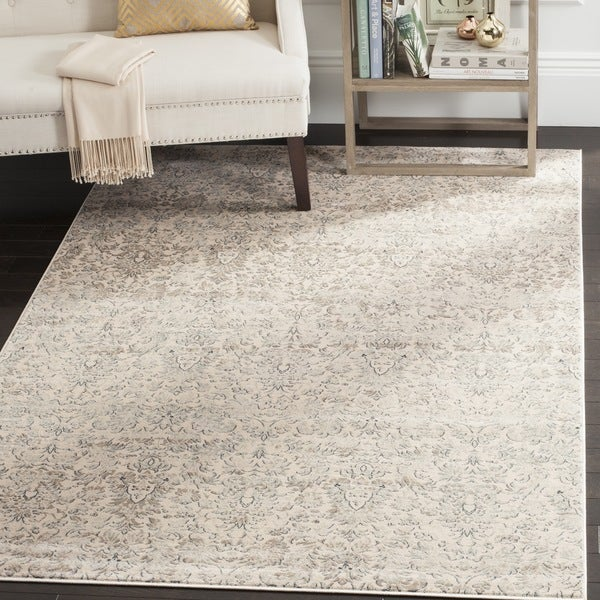 Safavieh Vintage Damask Ivory Grey Distressed Rug 8 X
