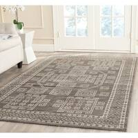 Safavieh Hand-knotted Kenya Grey Wool Rug - 7' x 7' Square