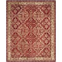 Safavieh Handmade Anatolia Oriental Red/ Ivory Hand-spun Wool Rug - 9' x 12'