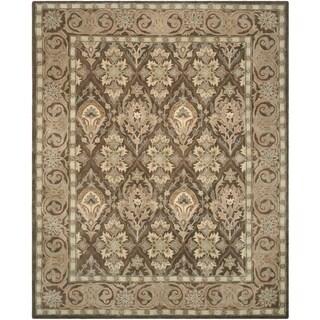 Safavieh Handmade Anatolia Oriental Brown/ Beige Hand-spun Wool Rug (9' x 12')