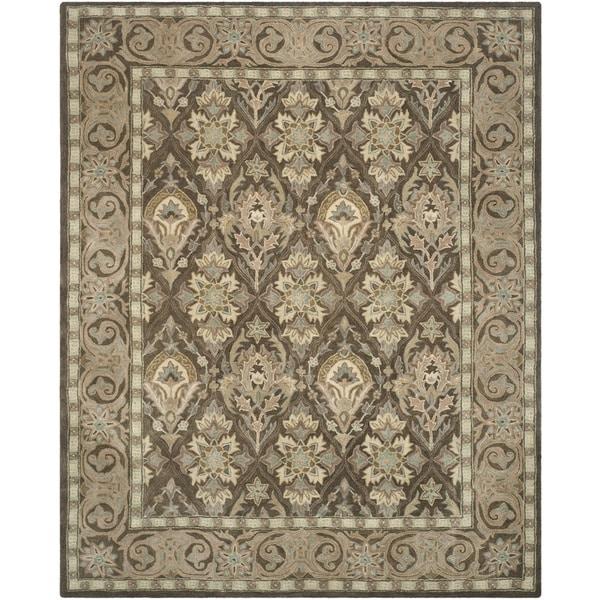 Safavieh Handmade Anatolia Oriental Brown/ Beige Hand-spun Wool Rug - 9' x 12'