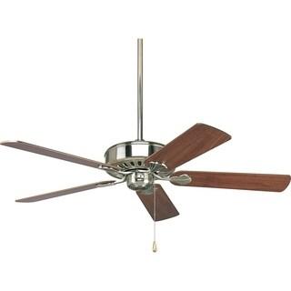 Progress Lighting Airpro Performance 52-inch 5-Blade Brushed Nickel Ceiling Fan Lighting Fixture