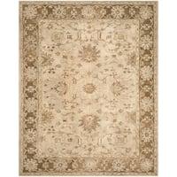 Safavieh Handmade Anatolia Oriental Light Grey/ Dark Brown Hand-spun Wool Rug (9' x 12')