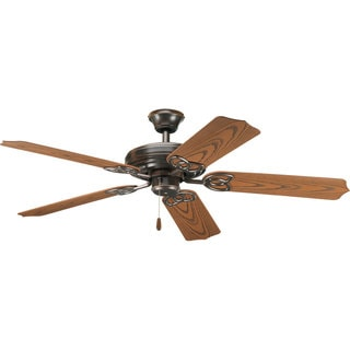 Progress Lighting Airpro 52-inch 5-Blade Antique Bronze Indoor/Outdoor Ceiling Fan Lighting Fixture