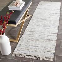 "Safavieh Hand-woven Rag Rug White Cotton Rug - 2'3"" x 7'"