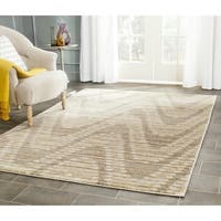 Safavieh Porcello Modern Waves Grey/ Dark Grey Rug - 4'1 x 6'
