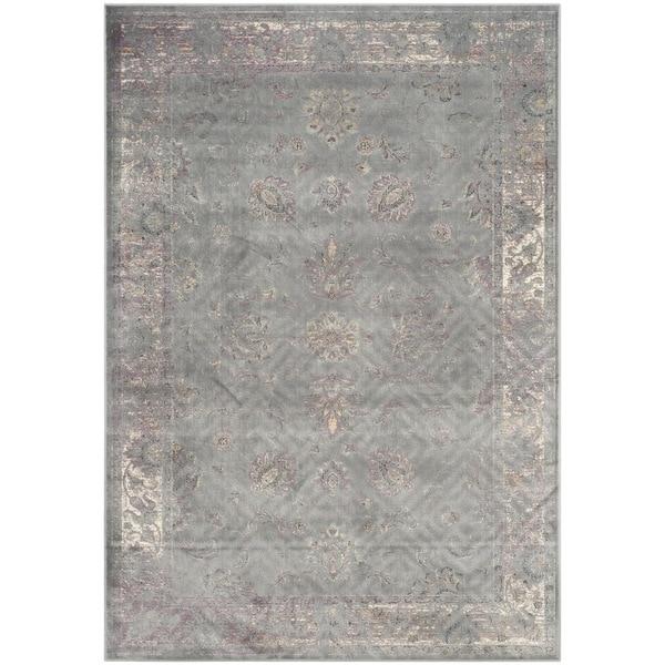 Safavieh Vintage Oriental Grey Distressed Silky Viscose Rug - 8'10 x 12'2