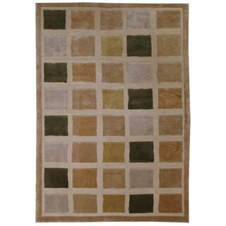 Hand Woven Wool Burnely Tile Rug 5 7 X