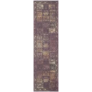 Safavieh Vintage Purple/ Fuchsia Viscose Rug (2'2 x 8')
