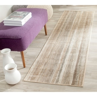 Safavieh Vintage Caramel Abstract Distressed Silky Viscose Rug (2'2 x 8')