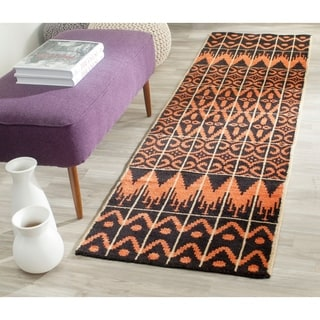 Safavieh Hand-knotted Kenya Orange/ Black Wool Rug (2'3 x 8')