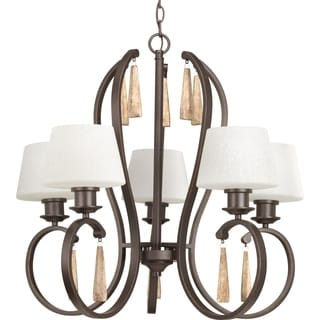 Progress Lighting Club Collection 5-Light Antique Bronze Chandelier Lighting Fixture