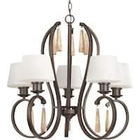 Progress Lighting Club Collection 5-Light Antique Bronze Chandelier Lighting Fixture