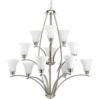 shop progress lighting torino collection 9 light 2 tier brushed