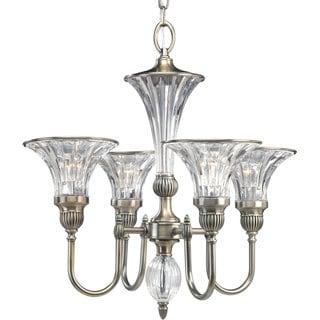Progress Lighting Roxbury Collection 4-Light Classic Silver Chandelier Lighting Fixture