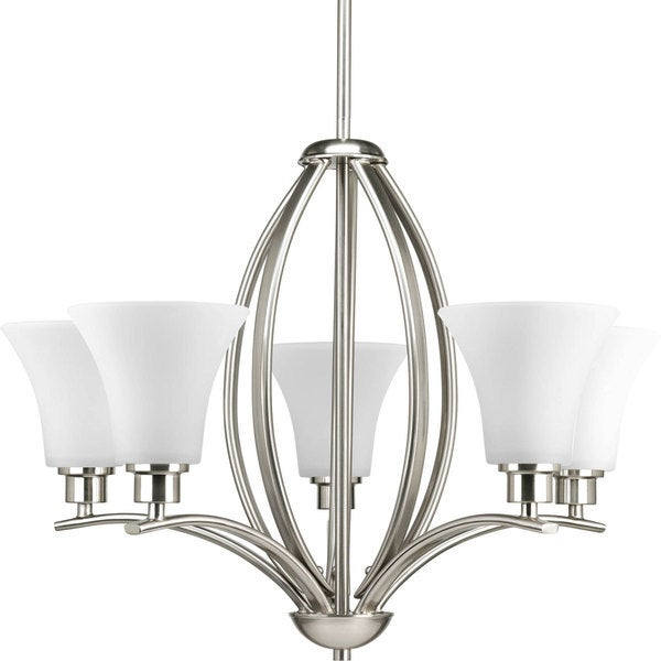 Progress Lighting Joy Collection 9 Light Brushed Nickel Chandelier Fixture