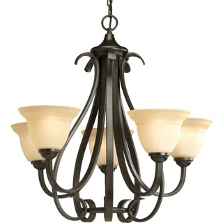 Progress Lighting Torino Collection 5-Light Forged Bronze Chandelier Lighting Fixture