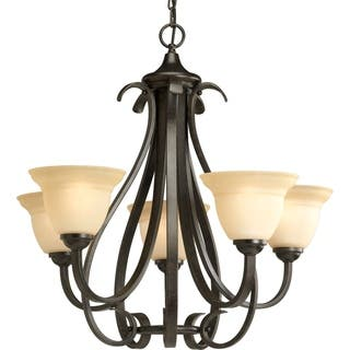 Forged chandeliers for less overstock progress lighting torino collection 5 light forged bronze chandelier lighting fixture aloadofball Images