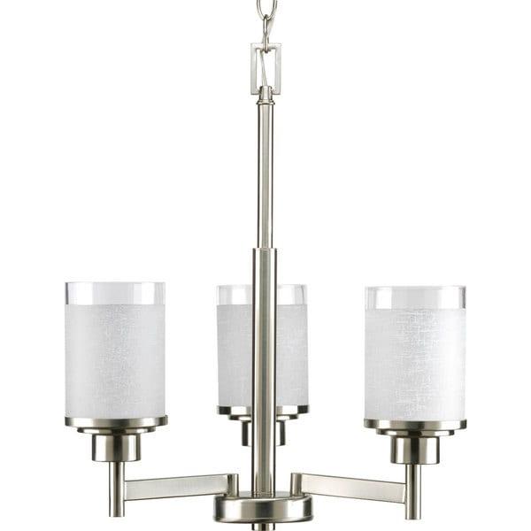 Progress Lighting Alexa Collection 3-Light Brushed Nickel Chandelier Lighting Fixture