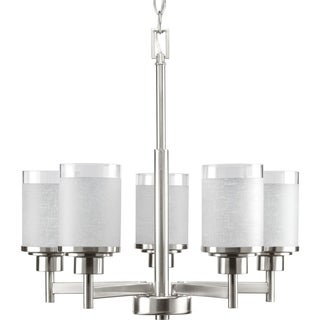 Progress Lighting Alexa Collection 5-Light Brushed Nickel Chandelier Lighting Fixture