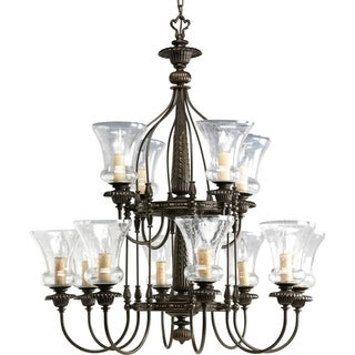 Progress Lighting Fiorentino Collection 12 Light Forged Bronze Chandelier Lig
