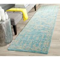Safavieh Hand-knotted Kenya Blue Wool Rug - 2'3 x 8'