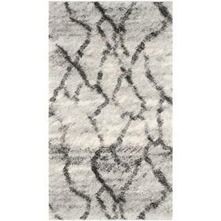 Safavieh Retro Modern Abstract Light Grey/ Black Distressed Rug (2'3 x 4')