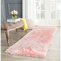 "Safavieh Handmade Arctic Shag Pink Polyester Runner - 2'3"" x 8'"