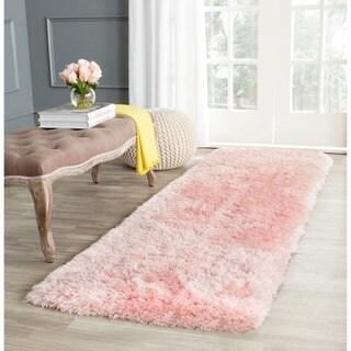 Safavieh Handmade Arctic Shag Pink Polyester Runner (2'3 x 8')
