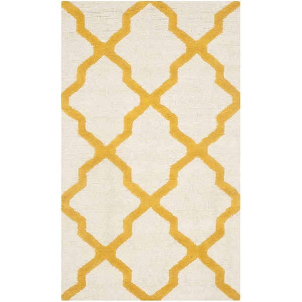 Shop Safavieh Handmade Moroccan Cambridge Gold Ivory Wool: Shop Safavieh Handmade Moroccan Cambridge Ivory/ Gold Wool