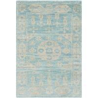 Safavieh Hand-knotted Kenya Blue Wool Rug - 2' x 3'