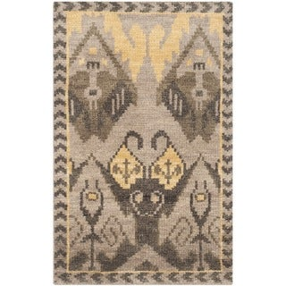 Safavieh Hand-knotted Kenya Gold/ Beige Wool Rug (2' x 3')